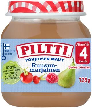 Piltti 125G Pohjoisen Maut Ruusunmarjainen Marja- Ja Hedelmäsose 4Kk