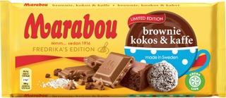 Marabou Brownie Kokos & Kaffe Suklaalevy 185G