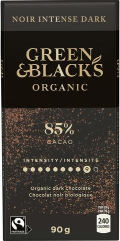 Green & Blacks ORGANIC DARK 85% chokladkaka 90g