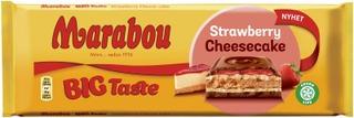 Marabou Big Taste Strawberry Cheesecake Suklaalevy 300G