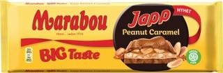 Marabou Bigtaste Japp Peanut Caramel Suklaalevy 276G