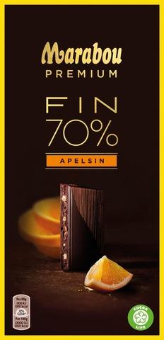 Marabou Premium 100g Fin 70% Apelsin suklaalevy