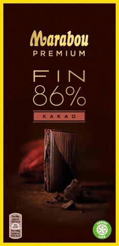 Marabou Premium Fin  86% Kakao Suklaalevy 100G