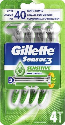Gillette 4Kpl Sensor3 Sensitive Varsiterä