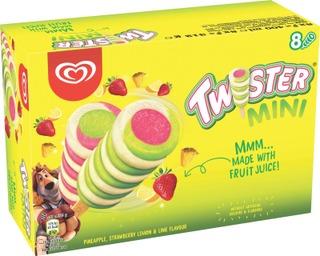 Heartbrand Twister 400Ml / 362G Monipakkaus Ananas-Mansikka-Lime