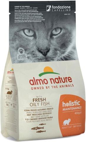 Almo Nature 400g Holistic Cat siika & riisi kuivaruoka aikuisille kissoille