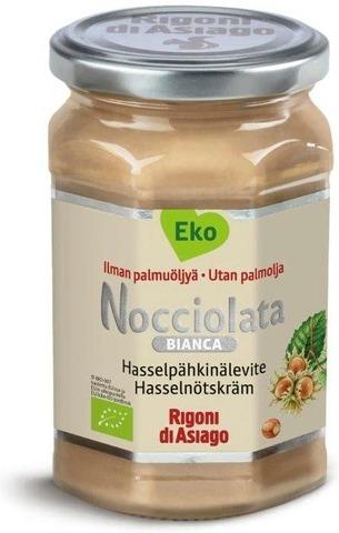 Nocciolata Luomu Vaalea Hasselpähkinälevite 270 G