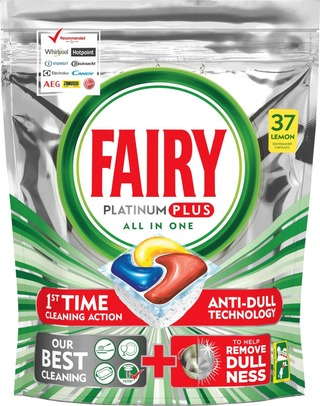 Fairy 37Kpl Platinum Plus All In One Lemon Konetiskitabletti
