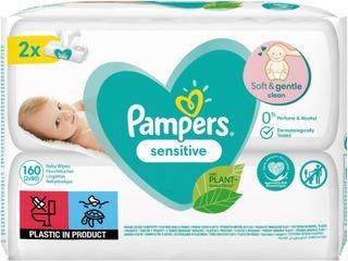 Pampers 160Kpl Sensitive Baby Wipes Puhdistuspyyhe