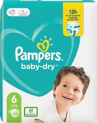 Pampers 39Kpl Baby Dry S6 13-18Kg Vaippa