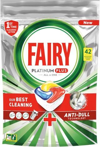 Fairy 42Kpl Platinum Plus All In One Lemon Konetiskitabletti
