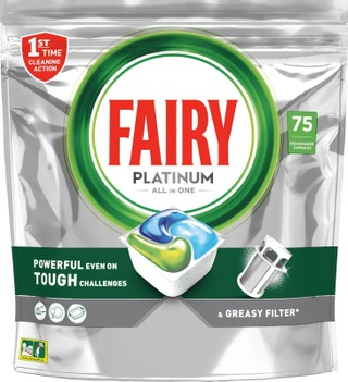 Fairy 75Kpl Platinum All In One Astianpesuainetabletti