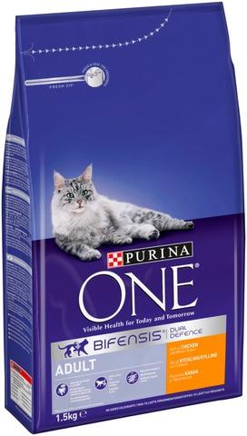 Purina One 1,5 kg Adult Runsaasti Kanaa ja Täysjyväviljaa kissanruoka