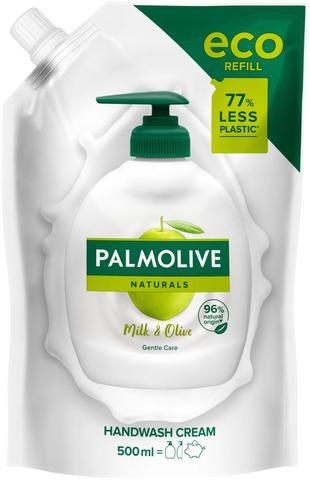 Palmolive Naturals Milk & Olive Nestesaippua Täyttöpussi 500Ml