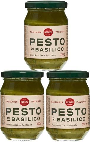 Herkku 190G Pesto Di Basilico Pestokastike