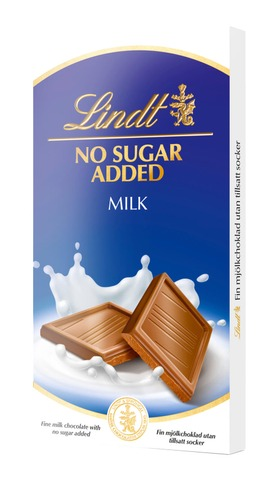 Lindt No Added Sugar maitosuklaalevy 100g