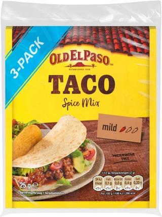 Old El Paso 3X25g Taco Mausteseos Original