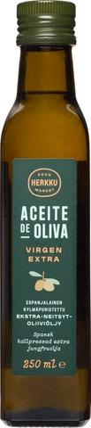 Herkku 250 ml espanjalainen kylmäpuristettu ekstra-neitsytoliiviöljy