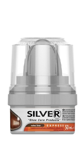Silver 50Ml Pikakiilloke Kengille Ruskea