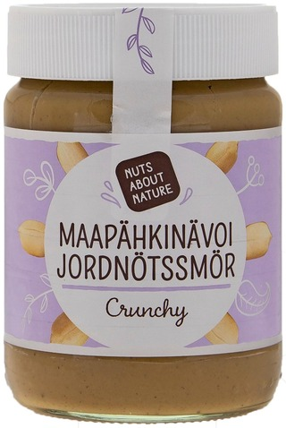 Nuts about Nature 340g maapähkinävoi crunchy