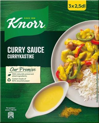 Knorr Kastikeaines Currykastike 3X20g