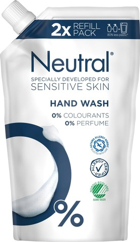 Neutral Nestesaippua Refill 0% 500Ml