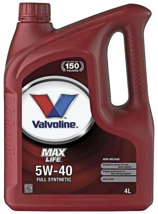 Valvoline Maxlife 5W-40 Moottoriöljy 4L