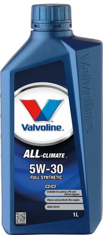 Valvoline All Climate 5W-30 C2/C3 Moottoriöljy 1L