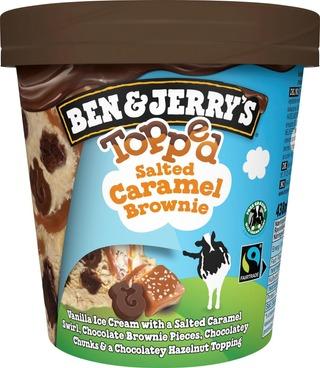 Ben & Jerry's Jäätelöpakkaus Topped Salted Caramel Brownie 438Ml/403G