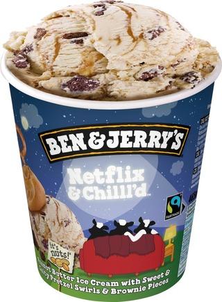 Ben & Jerry's Jäätelöpakkaus Netflix & Chilll'd 465Ml/405G