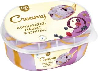 Ingman Creamy Kotipakkaus Kuningatarmarjat & Kinuski 850Ml