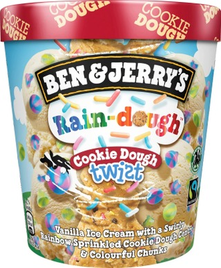 Ben & Jerry's Pint-Jäätelö Rain-Dough Cookie Dough Twist 465 Ml