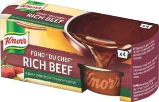 """Knorr Fond """"Du Chef"""" Tumma Naudanliha-Annosfondi 4X28g"""