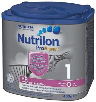 Nutrilon Hypo-Allergenic Ha 1 400G, Maitopohjainen Äidinmaidonkorvikejauhe, Alkaen 0 Kk.