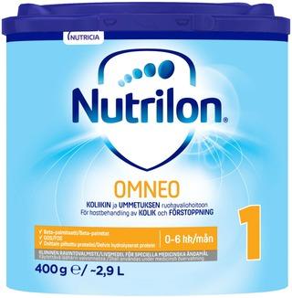 Nutrilon Omneo 1 400G, Kliininen Ravintovalmistejauhe Imeväisikäiselle, 0-6 Kk.