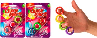 Magnetic Quick Rings Glitter 3 Kpl