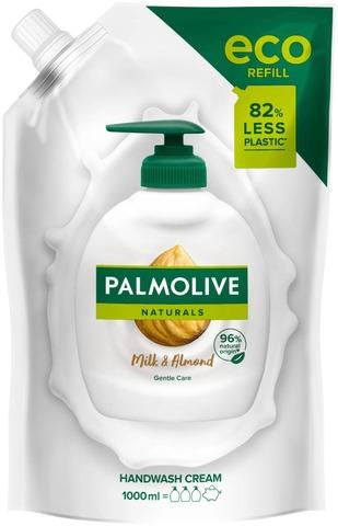Palmolive Naturals Milk & Almond Nestesaippua Täyttöpussi 1000Ml