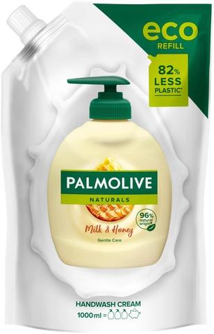 Palmolive Naturals Milk & Honey Nestesaippua Täyttöpussi 1000Ml