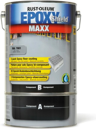 Rust-Oleum Epoxyshield Maxx 2K Lattiaepoksi 5L vaalean harmaa RAL 7035