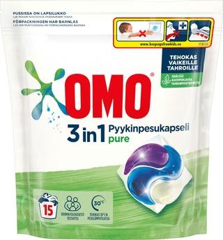 Omo Pyykinpesukapseli Pure 15 Kpl