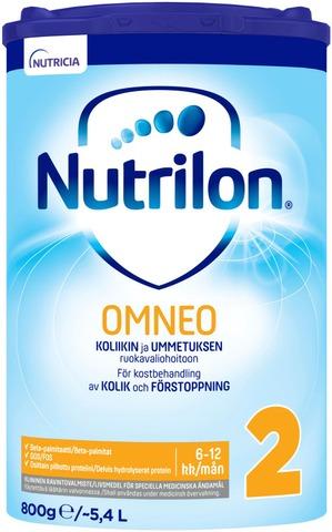 Nutrilon Omneo 2 800 G, Kliininen Ravintovalmistejauhe Imeväisikäiselle, 6-12Kk.