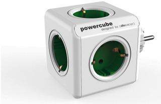 Allocacoc Powercube Original Virtapistoke Jakaja Vihreä