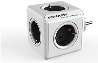 Allocacoc Powercube Original Virtapistoke Jakaja Harmaa