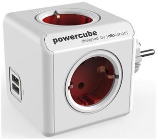 Allocacoc Powercube Original Usb Virtapistoke Jakaja Punainen