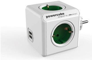 Allocacoc Powercube Original Usb Virtapistoke Jakaja Vihreä