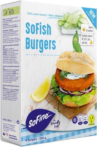 Sofine Sofish Burgers Kasvispihvi Vegaaninen 4X80g/320G
