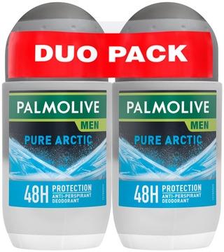 2 X Palmolive Men Pure Arctic Antiperspirantti Roll-On 50Ml