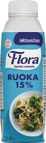 Flora Ruoka 15% Laktoositon