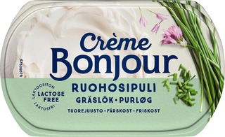 Crème Bonjour 200G Ruohosipuli Tuorejuusto Laktoositon