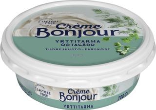 Crème Bonjour 200G Yrttitarha Tuorejuusto Laktoositon